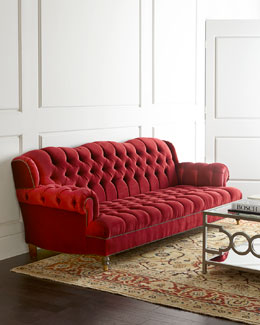 NM EXCLUSIVE Mr. Smith Cranberry Sofa