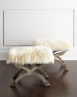 Massoud Massey Sheepskin X Bench