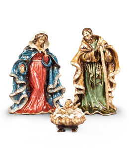 Jay Strongwater Three Figure Nativity Set