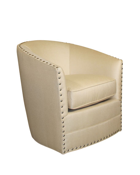 Bryn St. Clair Gold Swivel Chair