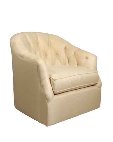 Rae St. Clair Gold Swivel Chair
