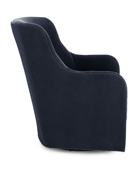 Cali St. Clair Navy Velvet Swivel Chair