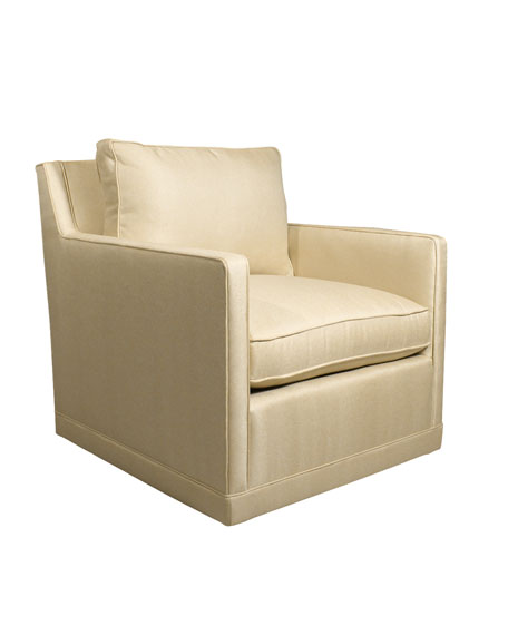 Nina St. Clair Gold Swivel Chair