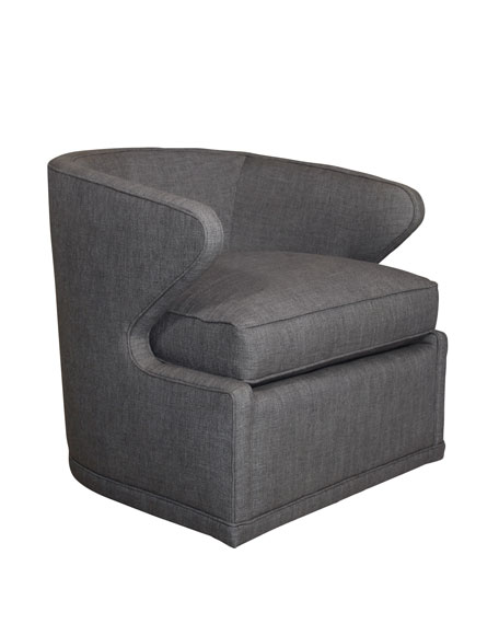 Dyna St. Clair Charcoal Tweed Swivel Chair