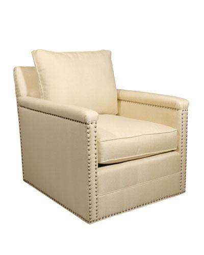 Avis St. Clair Gold Swivel Chair