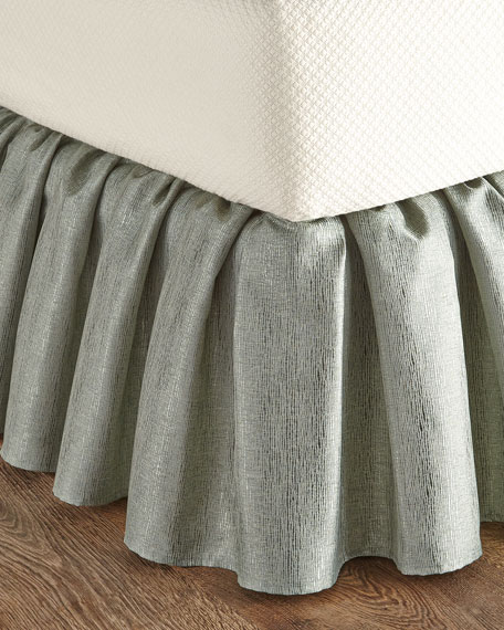 Queen Gold Coast Manor Aqua Dust Skirt