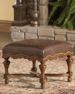 Ambella Santa Fe Leather Ottoman