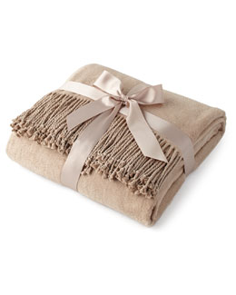 Fawn Silk Fleece Throw