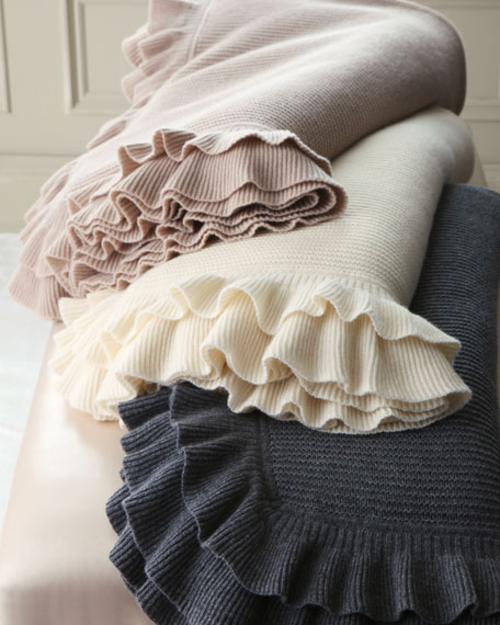 Ruffled Cashmere Throw