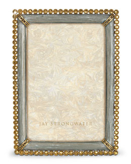 "Jay Strongwater Enamel & Stone Edge 4"" x 6"" Frame"