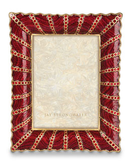 "Jay Strongwater Pave Ruffle 5"" x 7"" Frame"