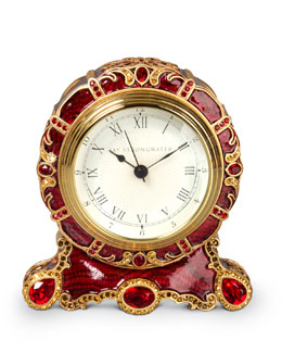 Bryce Crystal Scroll Clock