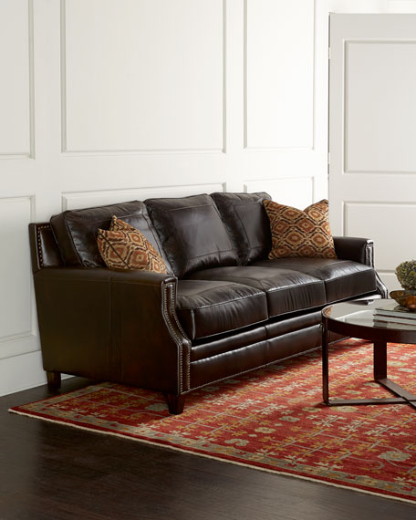 Steve Silver Brenton Leather Sofa