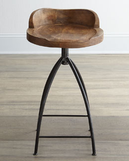 Arteriors Wood Swivel Barstool