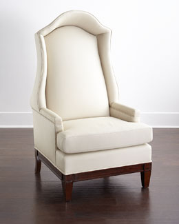 Global Views Linwood Leather Host Chair