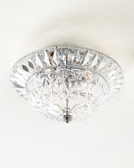 Spontaneous Crystal Flush-Mount Ceiling Fixture