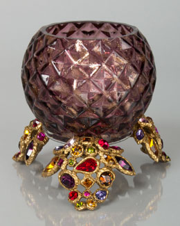 Jay Strongwater Tessa Bejeweled Tealight