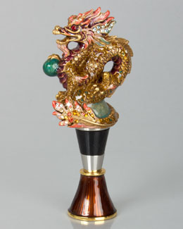 Dragon Wine Stopper with Stand