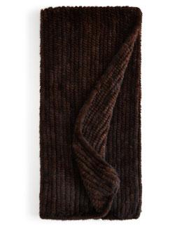 Adrienne Landau Knit Mink Throw