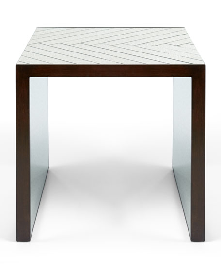 Megan Mirrored End Table