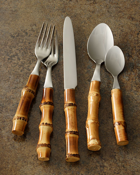 "Five-Piece ""Bamboo"" Place Setting, Natural"