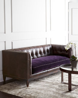 Old Hickory Tannery Mulberry Sofa