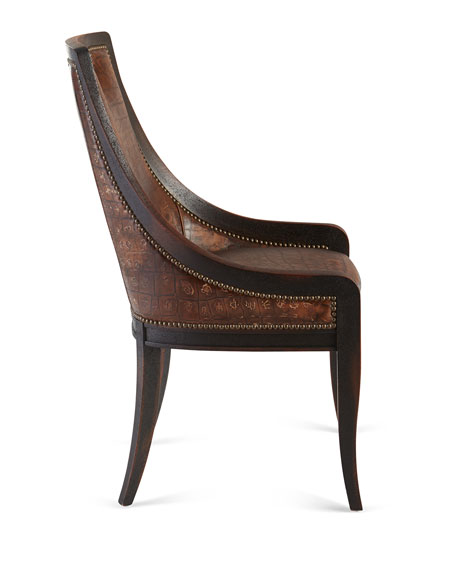 Admirable Cinda Leather Dining Chair Squirreltailoven Fun Painted Chair Ideas Images Squirreltailovenorg
