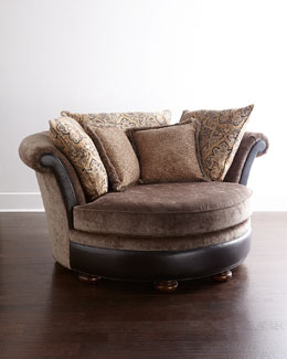 Massoud Paisley Cuddle Chair