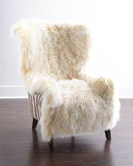 Massoud Christopher Sheepskin Chair