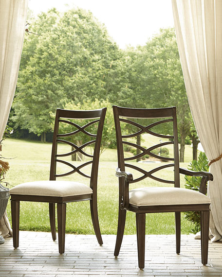 Two Lenore Cross-Back Side Chairs