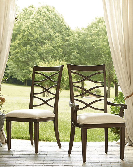 Two Lenore Cross-Back Armchairs