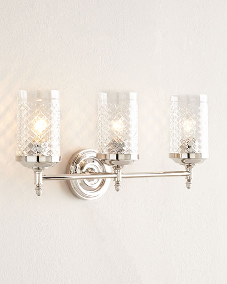 Lita Polished-Nickel Triple Sconce
