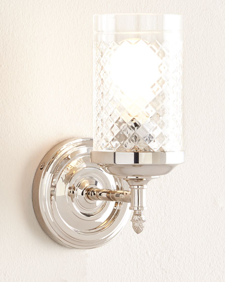 Alexa Hampton Lita Polished-Nickel Single Sconce