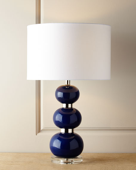 Shelby navy table lamp aloadofball Gallery