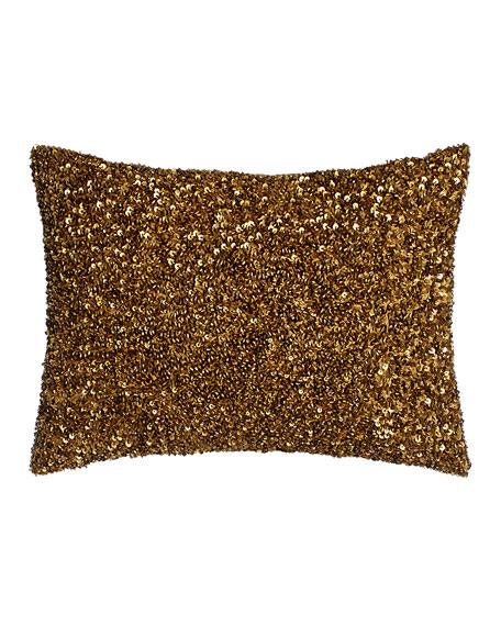 "Beaded Pillow, 12"" x 16"""