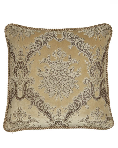 Marquis Reversible Floral Pillow with Cording, 20