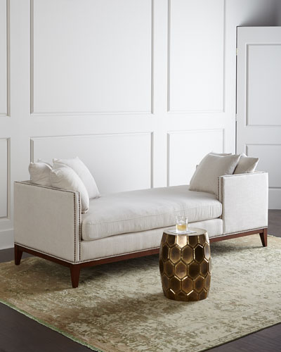Designer settees chaises at neiman marcus horchow for Bella flora double chaise lounge