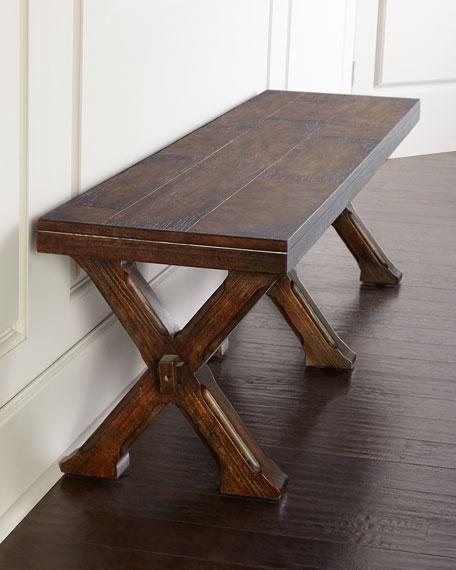Hooker Furniture Vickery Trestle Bench