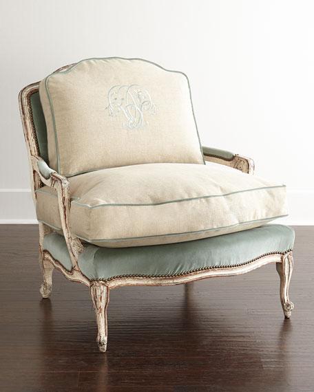 Merveilleux Misty Bergere Chair