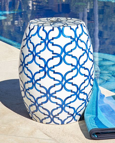 Neiman Marcus Pop Color Navy Garden Stool