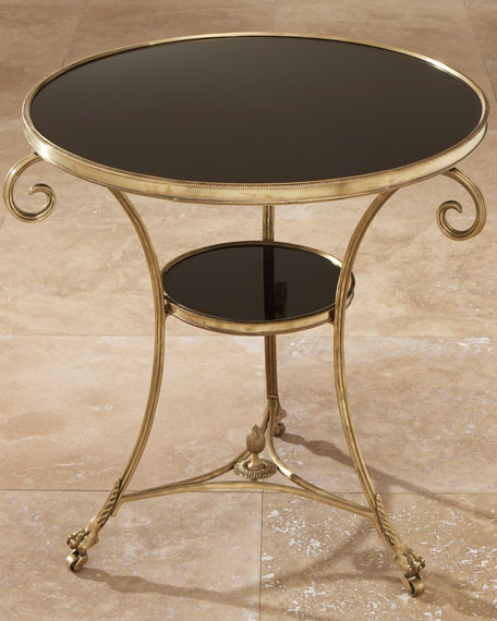 Black Granite Side Table