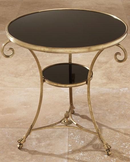 Black Granite Side Table