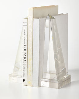 Crystal Obelisk Bookends