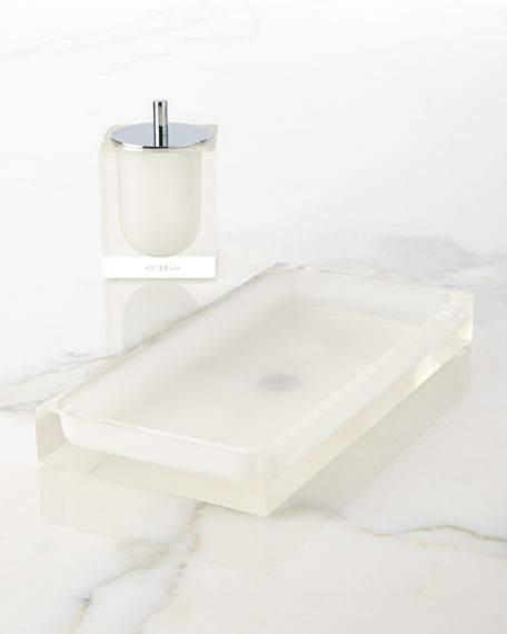 Jonathan Adler White Hollywood Bath Tray. Jonathan Adler White Hollywood Vanity Accessories