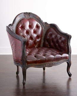 Madera Red Leather Chair