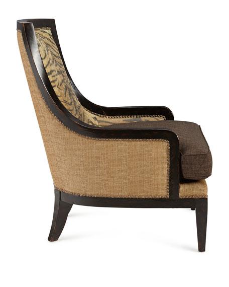 Lara Zebra Leather Chair