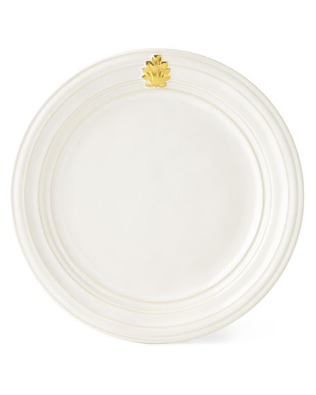 Acanthus Gold Leaf Dinner Plate