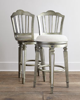 Bardot Mirrored Swivel Barstool