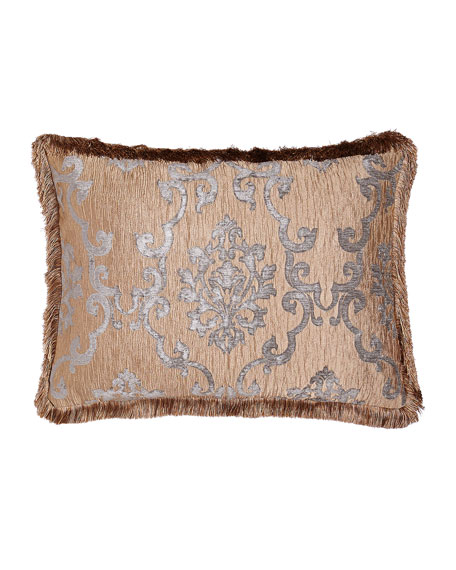 Standard Grace Damask Sham with Fringe
