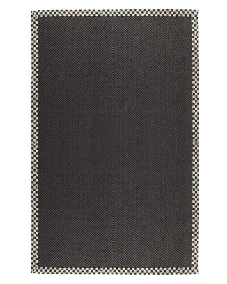 Courtly Check Black Sisal Rug, 2' x 3'